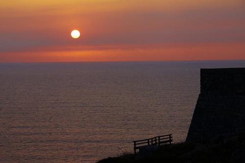 Puesta de sol desde el Cabo Vidio.